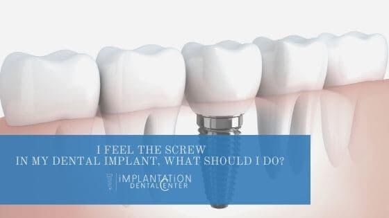 screw in dental implant